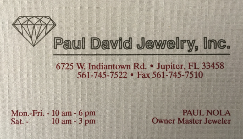 Paul David Jewelry, Inc.